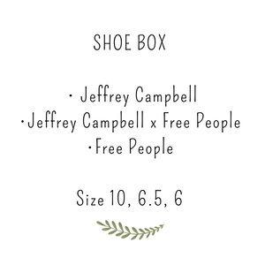 Shoe box, mixed sizes